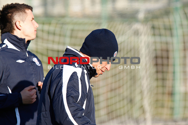 Krasimir Balakov, the coach of the FC Hajduk seen during a training with his players in Split, February 16, 2012. Bulgarian born Krasimir Balakov may become the next manager of FC Hertha Berlin. <br /> <br /> Foto &copy;  nph / PIXSELL / Ivo Cagalj