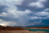 Lightning, storm, storm chasing, storm chaser, Arizona, weather, clouds, desert, mountains, rain, monsoon, Lake Pleasant