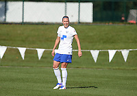 Kansas City, MO - Sunday August 28, 2016: Whitney Engen during a regular season National Women's Soccer League (NWSL) match between FC Kansas City and the Boston Breakers at Swope Soccer Village.