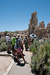 Ranger, tourists, tour, tufas, Mono Lake; Mono Basin National Forest Scenic Area, California, USA.  Photo copyright Lee Foster.  Photo # california122032