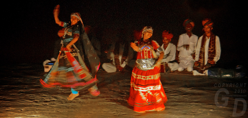 Tribal and cultural Dance performance in the Thar Desert, India