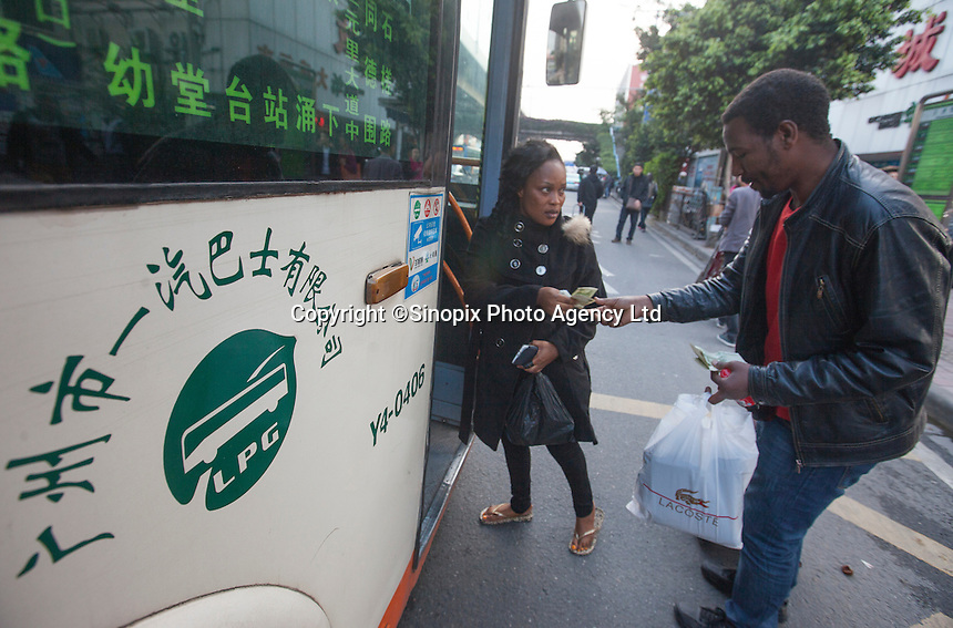 African people are seen in an area of Guangzhou known to locals as 'Chocolate City', Guangzhou, Guangdong Province, China, 08 December 2014. The health authorities of Guangzhou are said to be stepping up their monitoring of the African community in light of the ongoing outbreak of the Ebola virus disease in West Africa.