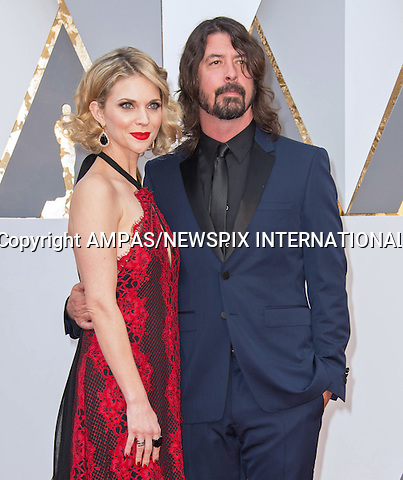 28.02.2016; Hollywood, California: 88th OSCARS - JORDAN BLUM and DAVE GROHL<br /> attend the 88th Annual Academy Awards at the Dolby Theatre&reg; at Hollywood &amp; Highland Center&reg;, Los Angeles.<br /> Mandatory Photo Credit: &copy;Ampas/Newspix International<br /> <br /> PHOTO CREDIT MANDATORY!!: NEWSPIX INTERNATIONAL(Failure to credit will incur a surcharge of 100% of reproduction fees)<br /> <br /> IMMEDIATE CONFIRMATION OF USAGE REQUIRED:<br /> Newspix International, 31 Chinnery Hill, Bishop's Stortford, ENGLAND CM23 3PS<br /> Tel:+441279 324672  ; Fax: +441279656877<br /> Mobile:  0777568 1153<br /> e-mail: info@newspixinternational.co.uk<br /> All Fees To: Newspix International