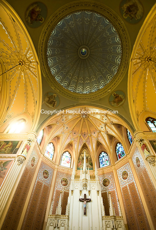 WATERBURY, CT-091517JS05-- The altar and ceiling inside the Shrine of St. Anne Church in Waterbury. Jim Shannon Republican-American