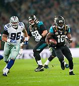09.11.2014.  London, England.  NFL International Series. Jacksonville Jaguars versus Dallas Cowboys. Jacksonville Jaguars' Running Back Denard Robinson (#16)