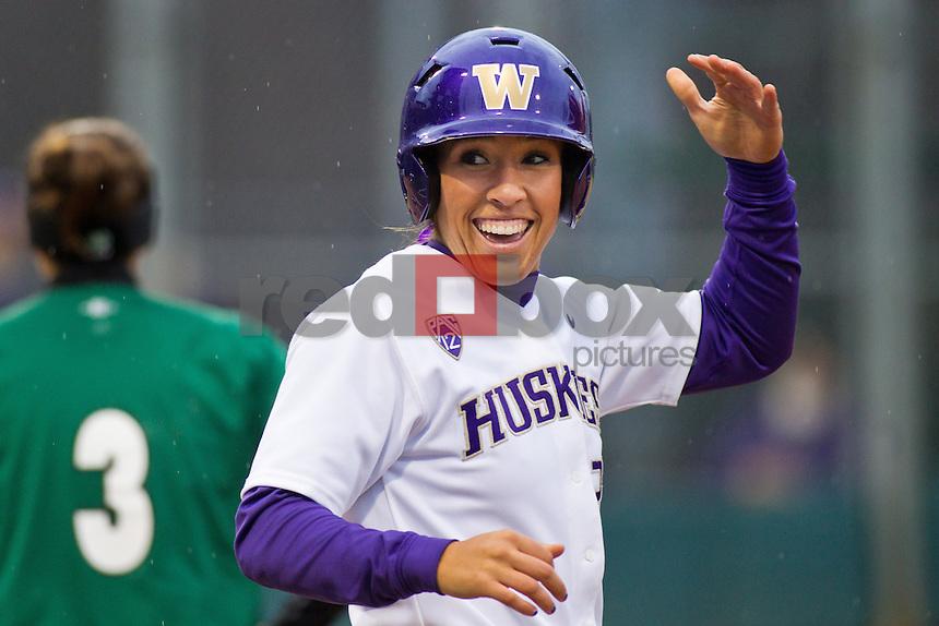 Whitney Jones..--------Washington Huskies softball team versus North Dakota at UW on Saturday, March 10, 2012. (Photo by Dan DeLong/Red Box Pictures)