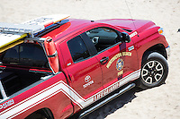 Red Toyota Huntington Beach Lifeguard Fire Truck