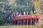 Rote Brücke, Hoan Kiem See, Hanoi, Vietnam