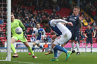 Blackburn Rovers' Danny Graham scores his side's first goal  <br /> <br /> Photographer Rachel Holborn/CameraSport<br /> <br /> The EFL Sky Bet League One - Blackburn Rovers v Southend United - Saturday 7th April 2018 - Ewood Park - Blackburn<br /> <br /> World Copyright &copy; 2018 CameraSport. All rights reserved. 43 Linden Ave. Countesthorpe. Leicester. England. LE8 5PG - Tel: +44 (0) 116 277 4147 - admin@camerasport.com - www.camerasport.com
