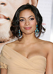 """WESTWOOD, CA. - December 16: Actress Rosario Dawson arrives at the Los Angeles premiere of """"Seven Pounds"""" at Mann's Village Theater on December 16, 2008 in Los Angeles, California."""