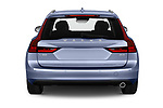 Straight rear view of a 2019 Volvo V90 Momentum 5 Door Wagon stock images