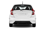 Straight rear view of a 2018 Nissan Versa Note S 5 Door Hatchback stock images