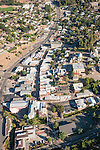Downtown business and historic district of Jackson, Calif., from the air