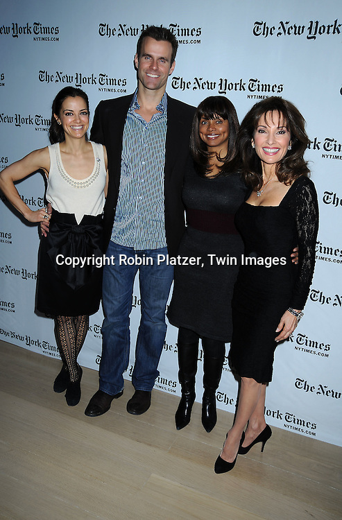 All My Children group shot, Rebecca Budig, Cameron Mathison, Debbi Morgan and Susan Lucci