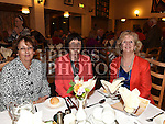 Mary Murray, Vera Reilly and Rose Murphy pictured at the Daughters of charity dinner in An Grianan. Photo:Colin Bell/pressphotos.ie