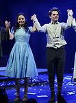 Molly Gordon and Colton Ryan during the opening night performance curtain call bows for the MCC Theater's 'Alice By Heart' at The Robert W. Wilson Theater Space on February 26, 2019 in New York City.