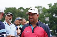 Graeme McDowell (NIR) with fans at the 10th green during Wednesday's Practice Day of the 2017 PGA Championship held at Quail Hollow Golf Club, Charlotte, North Carolina, USA. 9th August 2017.<br /> Picture: Eoin Clarke | Golffile<br /> <br /> <br /> All photos usage must carry mandatory copyright credit (&copy; Golffile | Eoin Clarke)