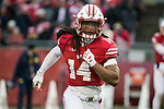 Wisconsin Badgers defensive back D'Cota Dioxon (14) during an NCAA College Big Ten Conference football game against the Michigan Wolverines Saturday, November 18, 2017, in Madison, Wis. The Badgers won 24-10. (Photo by David Stluka)