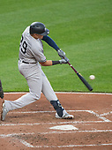 New York Yankees third baseman Gio Urshela (29) doubles in the third inning against the Baltimore Orioles at Oriole Park at Camden Yards in Baltimore, MD on Tuesday, May 21, 2019.<br /> Credit: Ron Sachs / CNP<br /> (RESTRICTION: NO New York or New Jersey Newspapers or newspapers within a 75 mile radius of New York City)