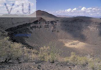 Sykes Crater, a large maar crater, Pinacate Biosphere Reserve, Sonora, Mexico.