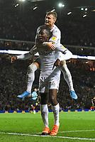 Leeds United's Edward Nketiah celebrates scoring his team's opening goal<br /> <br /> Photographer Dave Howarth/CameraSport<br /> <br /> The EFL Sky Bet Championship - Leeds United v Brentford - Wednesday August 21st 2019 - Elland Road - Leeds<br /> <br /> World Copyright © 2019 CameraSport. All rights reserved. 43 Linden Ave. Countesthorpe. Leicester. England. LE8 5PG - Tel: +44 (0) 116 277 4147 - admin@camerasport.com - www.camerasport.com