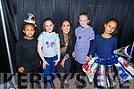 Ewa Kiarlie, Sarah Brick, Aislinn Desmond, Sarah Sullivan and Tosceam Bagalini looking the part at the Presentation Primary School Junk Kouture Fashion Show in the Rose Hotel on Thursday night.