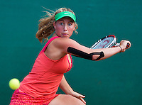 August 12, 2014, Netherlands, Raalte, TV Ramele, Tennis, National Championships, NRTK,  Nikki Luttikhuis (NED)<br /> Photo: Tennisimages/Henk Koster