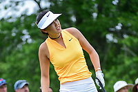 Michelle Wie (USA) watches her tee shot on 7 during Thursday's first round of the 72nd U.S. Women's Open Championship, at Trump National Golf Club, Bedminster, New Jersey. 7/13/2017.<br /> Picture: Golffile | Ken Murray<br /> <br /> <br /> All photo usage must carry mandatory copyright credit (&copy; Golffile | Ken Murray)