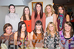 Niamh Murphy, Ballyard, Tralee (seated centre) celebrated her 22nd birthday with friends last Friday night in Bella Bia restaurant, Ivy Terrace, Tralee (seated) l-r: Stacy Mallaby, Aisling McMahon, Niamh Murphy, Rebecca McMahon and Michelle Walsh. Back l-r: Shauna Lynch, Megan Power, Katie Brosnan, Karen Walsh and Siobhán Daly.