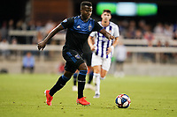 SAN JOSE, CA - JULY 16: Siad Haji #19 of the San Jose Earthquakes during a friendly match between the San Jose Earthquakes and Real Valladolid on July 16, 2019 at Avaya Stadium in San Jose, California.