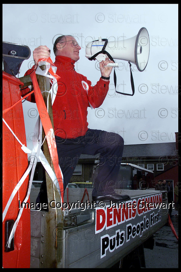 6th May 99                           Copyright Pic : James Stewart .Ref :  990216                         .File Name : stewart07-dennis canavan                        .DENNIS CANAVAM ON THE CAMPAIGN TRAIL TO BE ELECTED MSP FOR FALKIRK WEST.......Payments to :-.James Stewart Photo Agency, Stewart House, Stewart Road, Falkirk. FK2 7AS      Vat Reg No. 607 6932 25.Office : 01324 630007        Mobile : 0421 416997.E-mail : JSpics@aol.com.If you require further information then contact Jim Stewart on any of the numbers above.........