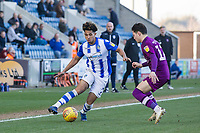 Courtney Senior of Colchester United looks to get past Callum O'Hare of Carlisle United during Colchester United vs Carlisle United, Sky Bet EFL League 2 Football at the JobServe Community Stadium on 23rd February 2019
