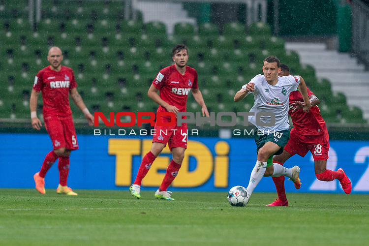 Maximilian Eggestein (Werder Bremen #35), Ismail Jakobs (FC Koeln #38)<br /> <br /> <br /> Sport: nphgm001: Fussball: 1. Bundesliga: Saison 19/20: 34. Spieltag: SV Werder Bremen vs 1.FC Koeln  27.06.2020<br /> <br /> Foto: gumzmedia/nordphoto/POOL <br /> <br /> DFL regulations prohibit any use of photographs as image sequences and/or quasi-video.<br /> EDITORIAL USE ONLY<br /> National and international News-Agencies OUT.