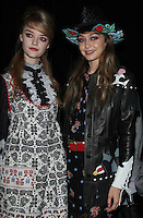 NEW YORK, NY-September 14: Willow Hand, Gigi Hadid backstage for  Anna Sui Fashion Show-2016 New York Fashion Week at the Arts Skylight of Moynihan Station in New York. September 14, 2016. Credit:RW/MediaPunch