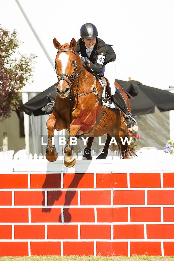 NZL-Abigail Long (BMW ADVOKAAT) FINAL-3RD: CIC1* SHOWJUMPING: 2014 NZL-BNZ Kihikihi International Horse Trial (Sunday 13 April) CREDIT: Libby Law COPYRIGHT: LIBBY LAW PHOTOGRAPHY - NZL