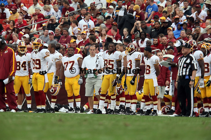 Seitenlinie der Washington Redskins