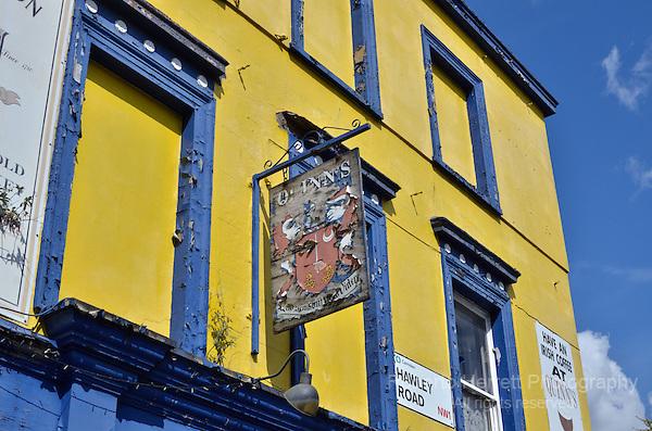 Dilapidated, derelict pub, London, UK