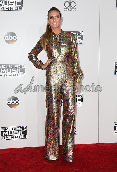 20 November 2016 - Los Angeles, California - Heidi Klum. 2016 American Music Awards held at Microsoft Theater. Photo Credit: PMA/AdMedia