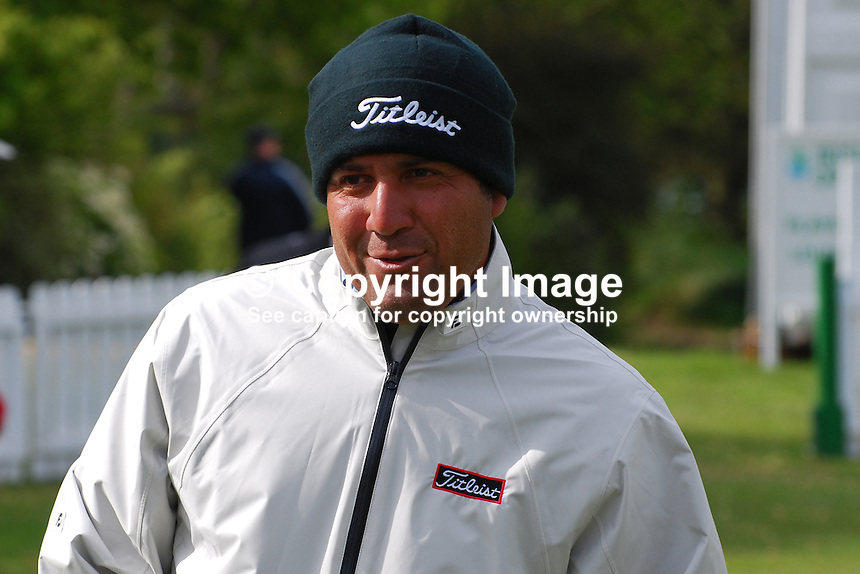 Ricardo Gonzalez, professional golfer, Argentina, 200905132358..Taken at the Irish Open Pro-Am Day, Wednesday 13 May 2009, at Baltray. Like most  participants he was dressed for warmth because of the chill easterly breeze coming off the Irish Sea. ..Copyright Image from Victor Patterson, 54 Dorchester Park, Belfast, UK, BT9 6RJ..Tel: +44 28 9066 1296.Mob: +44 7802 353836.Voicemail +44 20 8816 7153.Skype: victorpattersonbelfast.Email: victorpatterson@mac.com.Email: victorpatterson@ireland.com (back-up)..IMPORTANT: If you wish to use this image or any other of my images please go to www.victorpatterson.com and click on the Terms & Conditions. Then contact me by email or phone with the reference number(s) of the image(s) concerned.