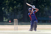 Kishen Velani hits 4 runs for Wanstead during Wanstead and Snaresbrook CC vs Hornchurch CC, Shepherd Neame Essex League Cricket at Overton Drive on 30th June 2018