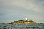 Faulkner's Island Light, Long Island Sound, Guilford, CT. 1802, second oldest in Connecticut