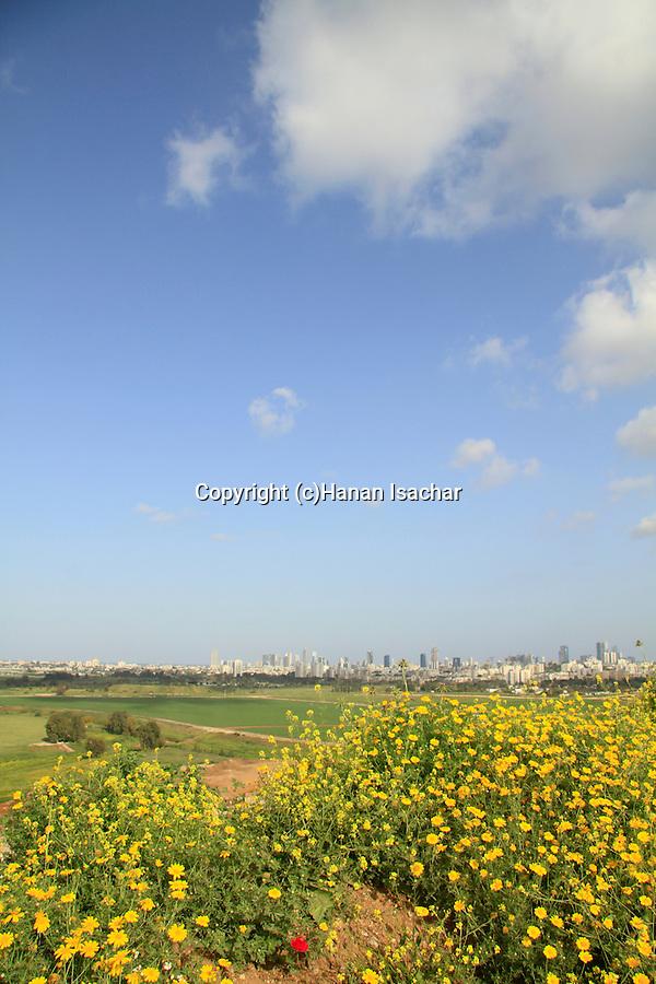 Israel, a view of Tel Aviv from Hiriya Recycling Park