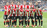 Athletic de Bilbao's team photo with Oscar de Marcos, Ander Iturraspe, Xabier Etxeita, Aymeric Laporte, Sabin Merino, Gorka Iraizoz, Benat Etxebarria, Mikel Balenziaga, Javi Eraso, Inigo Lekue and Aritz Aduriz during La Liga match. February 13,2016. (ALTERPHOTOS/Acero)
