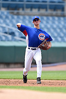 Cameron Comer (30) of Olentangy Liberty High School in Powell, Ohio playing for the Chicago Cubs scout team during the East Coast Pro Showcase on August 2, 2014 at NBT Bank Stadium in Syracuse, New York.  (Mike Janes/Four Seam Images)