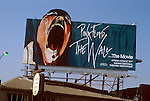 Billboard for the movie The Wall from Piink Floyd album by same name circa 1982