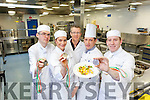 Culinary students from the IT, Tralee were celebrating this week after winning at the Catex exhibition, Ireland's largest Hospitality and Culinary event, which took place in Dublin. Pictured were: Shaun O'Connor, Nita Comerford, TJ O'Connor (Culinary Lecturer), Dan Browne (Culinary Lecturer) and James O'Sullivan.