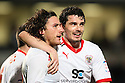 Lawrie Wilson of Stevenage (c) celebrates scoring the winning goal with Ronnie Henry. - Wycombe Wanderers v Stevenage - Adams Park, High Wycombe - 31st December 2011  .© Kevin Coleman 2011