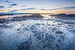 Sunrise light at Great Island Common, New Castle, New Hampshire, USA
