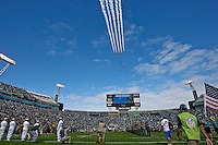 November 27, 2011:  The Black Diamond Jet Team perform a flyover prior to the start of first half action between the Jacksonville Jaguars and the Houston Texans played at EverBank Field in Jacksonville, Florida.  ........