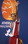 Anne Polinario obtient sa première médailles d'or en natation (Jean-Baptiste Benavent 21 septembre).